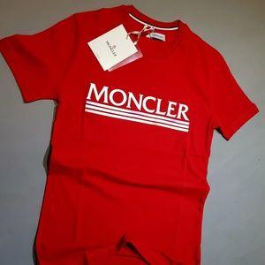 MONCLER MEN SHIRT MEW DESIGN COLOR RED %100 COTTON